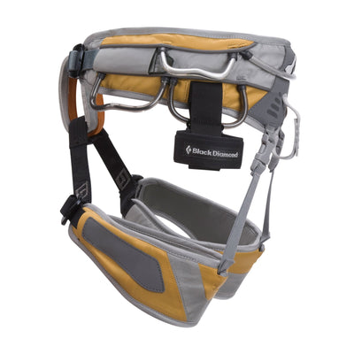 Black Diamond Big Gun Harness grey and gold side view