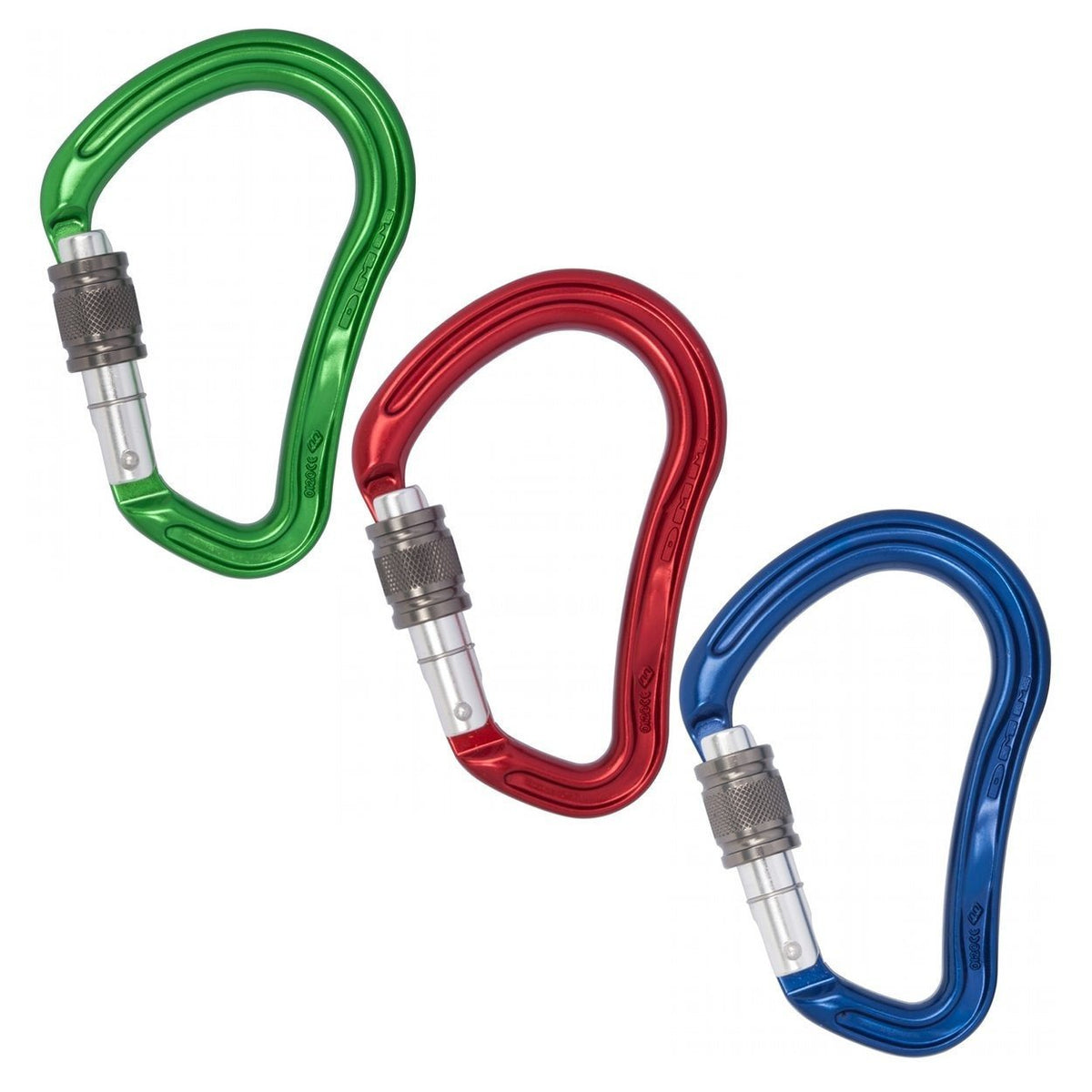 DMM Boa HMS Carabiner Coloured 3-Pack of green, red and blue