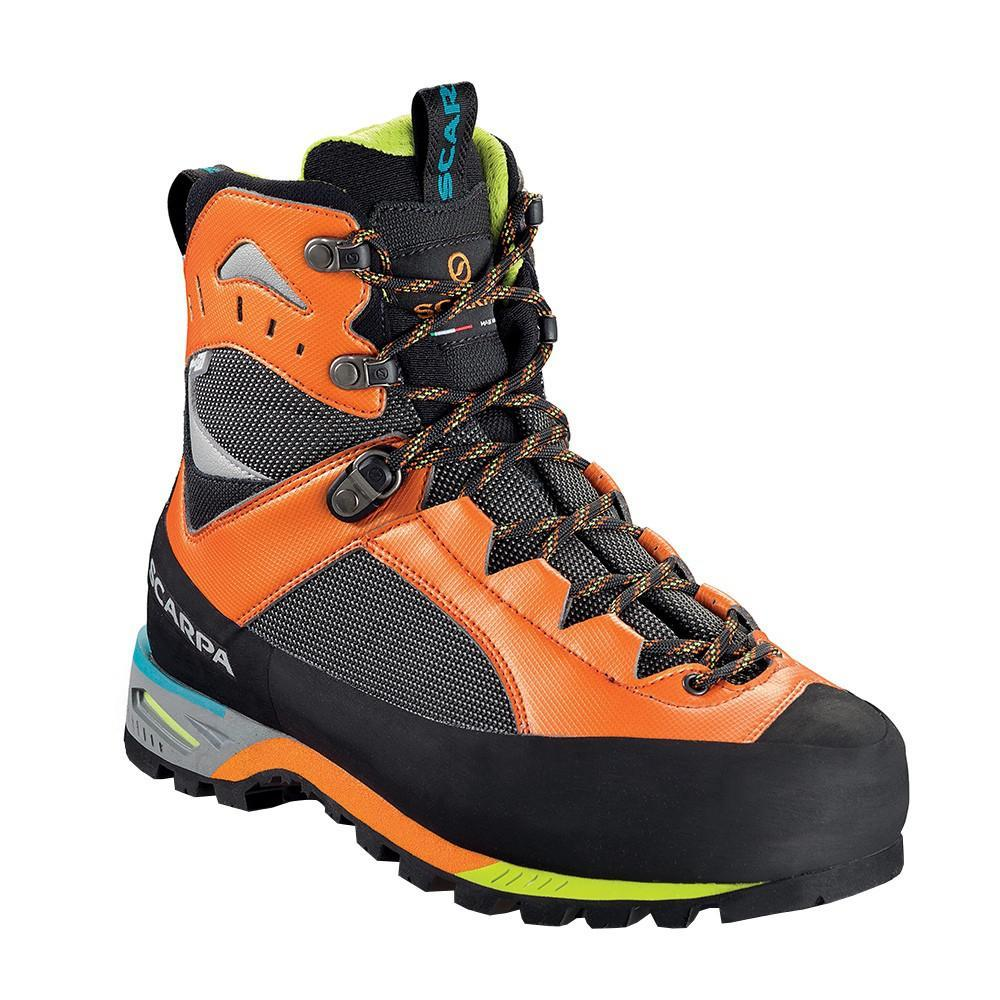 Scarpa Charmoz OD Mountaineering Boot, in black and orange colours