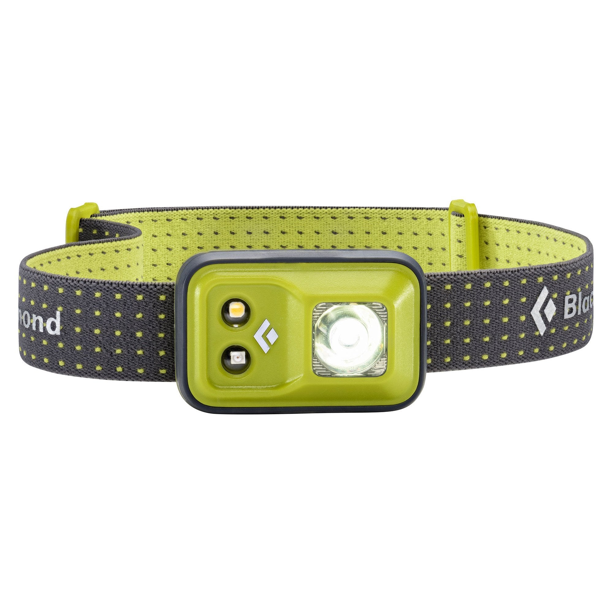 Black Diamond Cosmo headlamp, in green and grey colours
