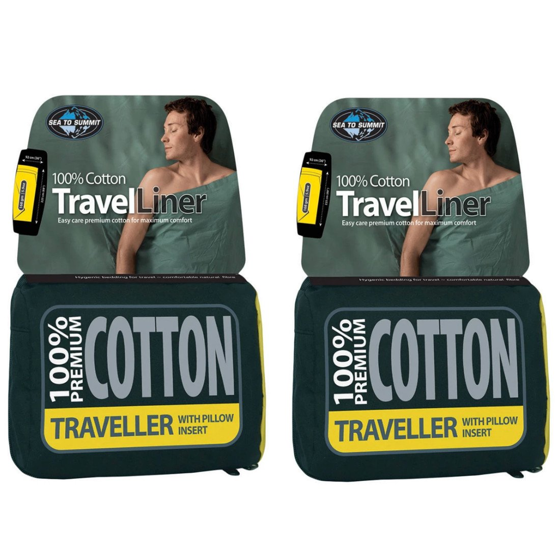 Sea to Summit Cotton Travel Liner (Pacific) 2-Pack