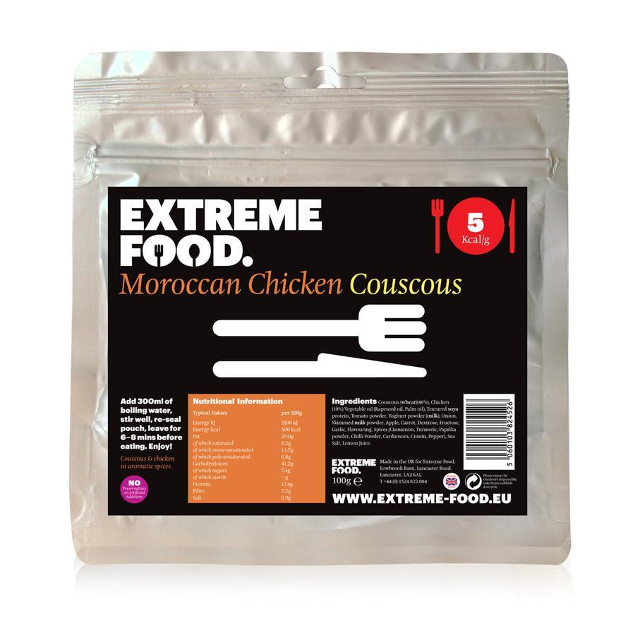 Extreme Food Moroccan Chicken Couscous, dried expedition food pack