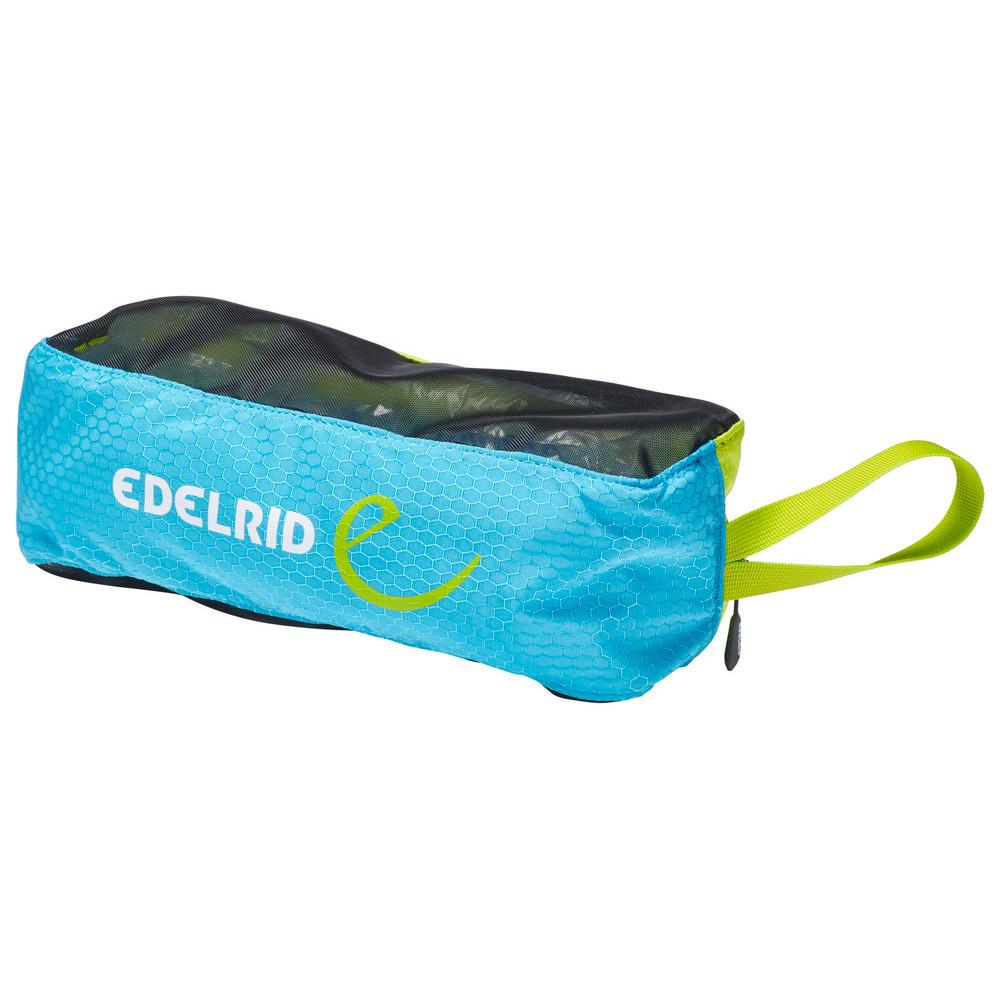 Edelrid Crampon Bag Lite, in blue, black and green colours