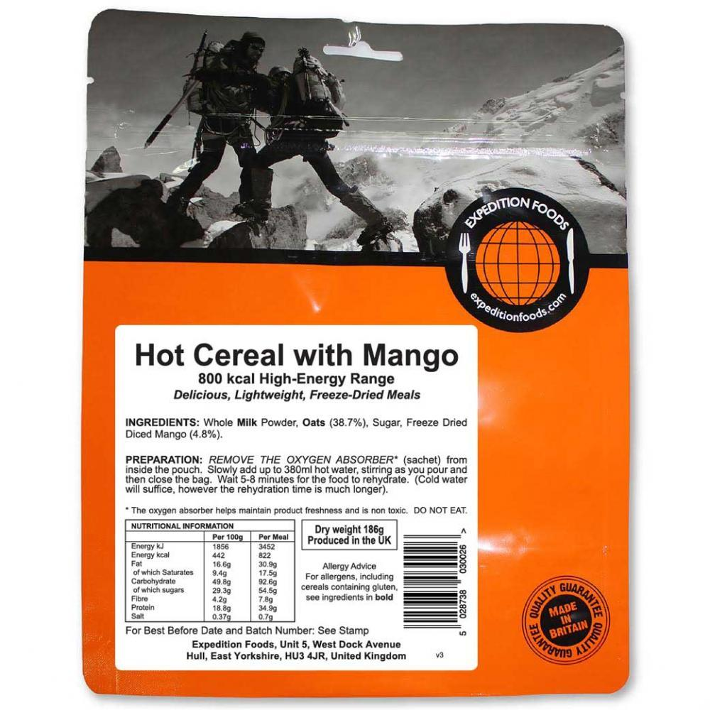 Expedition Foods Hot Cereal with Mango (800kcal) pack