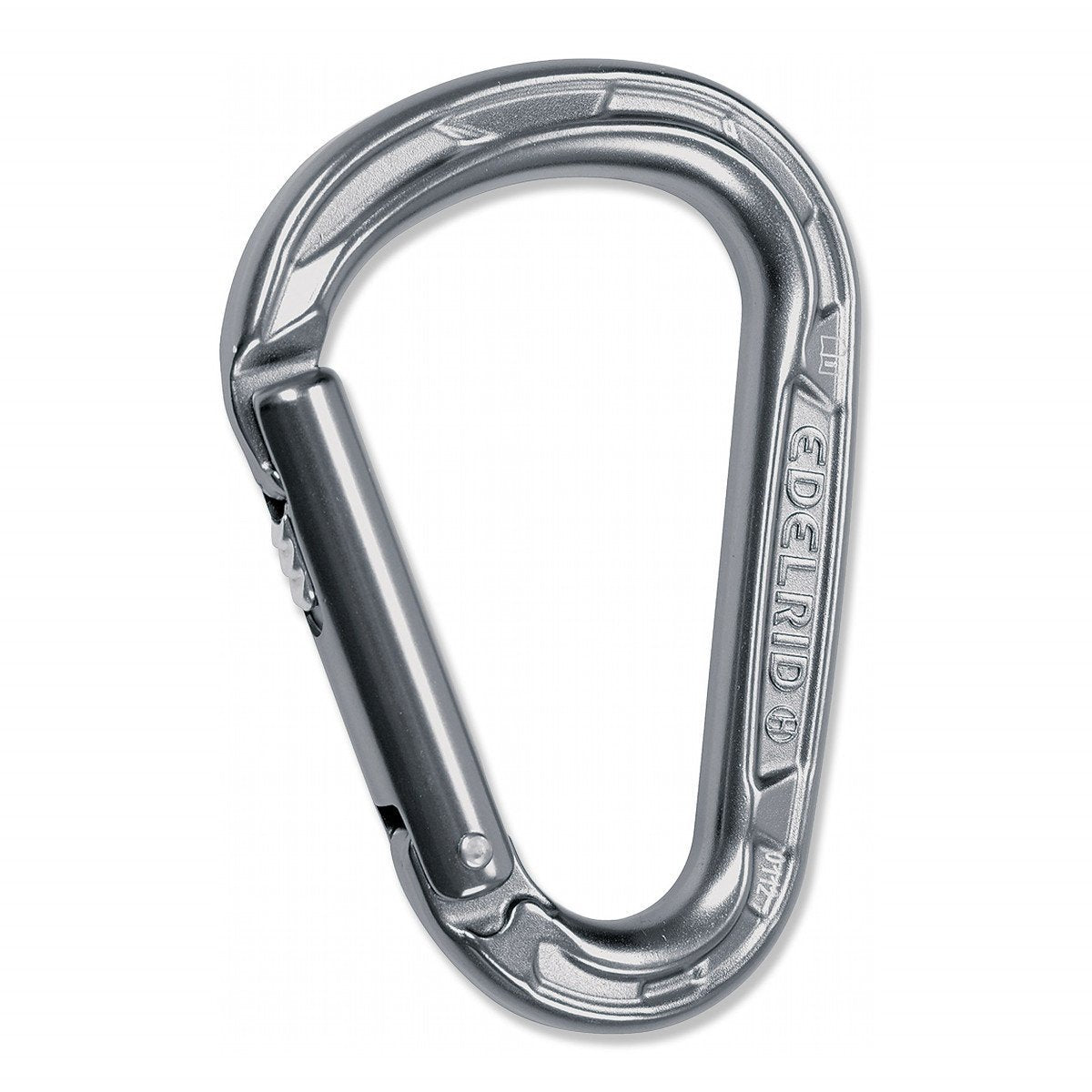 Edelrid HMS Strike Slider carabiner, in silver colour