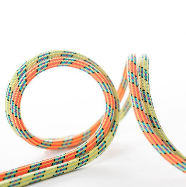 Beal Iceline Unicore Golden Dry 8.1mm x 60m climbing ropes, shown in orange and green colours