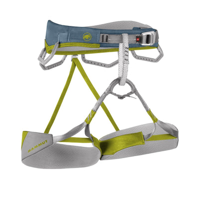 Mammut Togir Womens Harness, front view, in grey and yellow colours