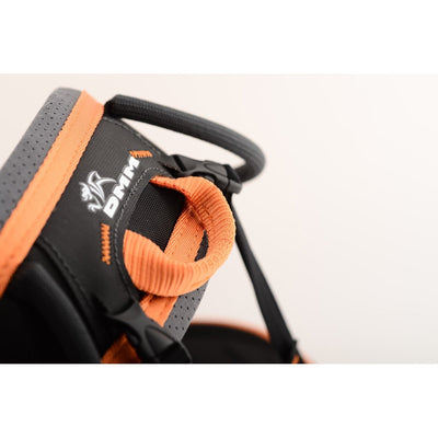DMM Maverick 2 Harness, close up showing the logo
