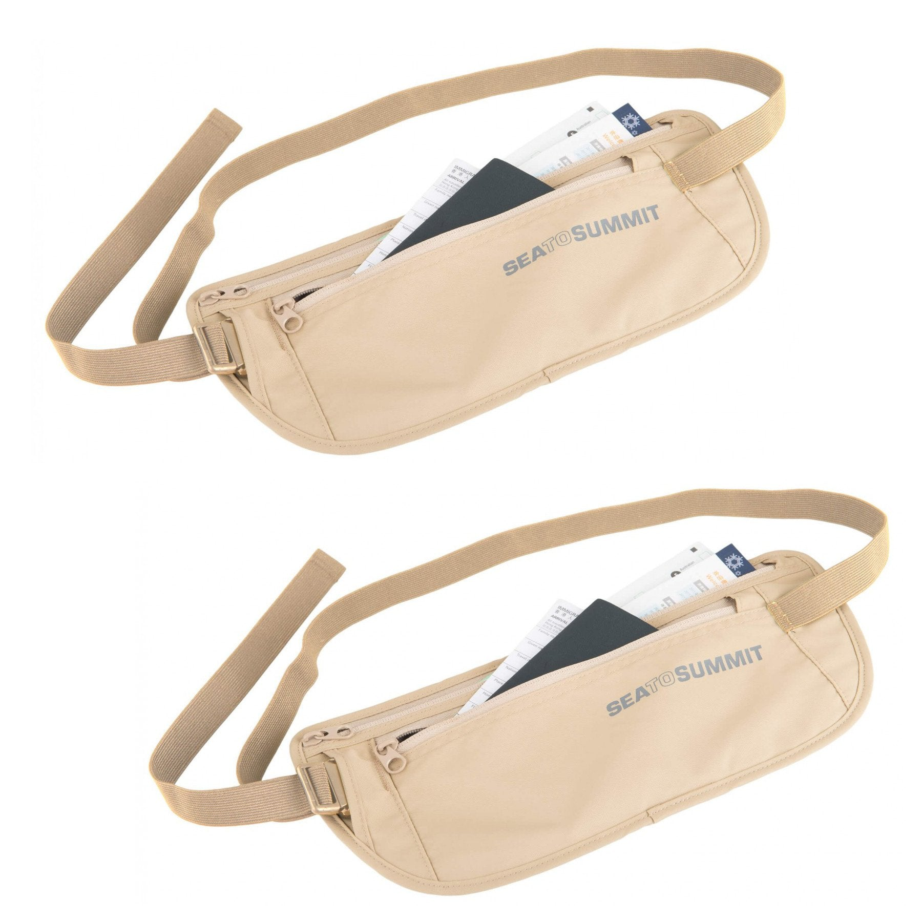 Sea to Summit Money Belt (Sand) 2-Pack - Geldgürtel