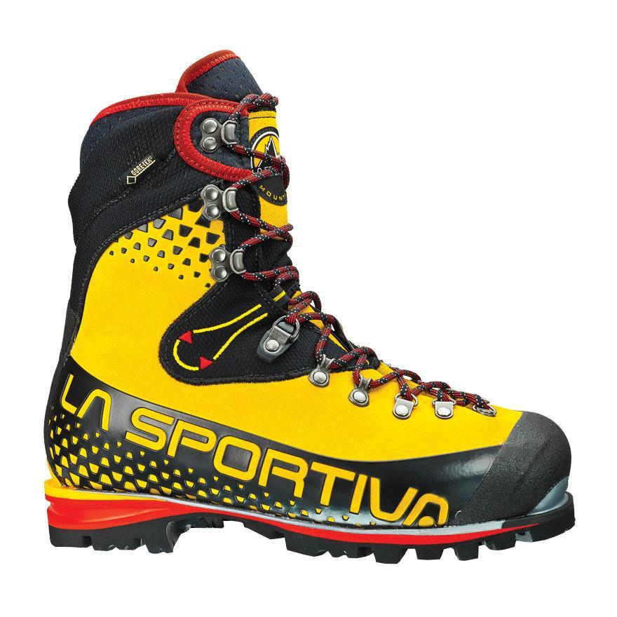 La Sportiva Nepal Cube GTX Mountaineering Boot, in black, yellow and red colours