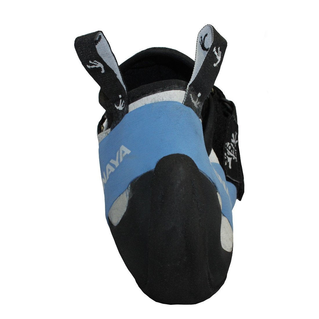 Tenaya Oasi climbing shoe, rear view showing the heel