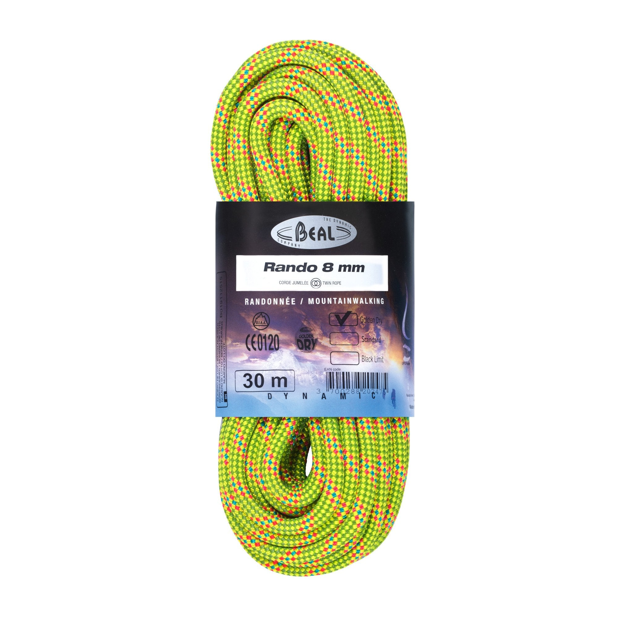 Beal Rando Walking Rope (Golden Dry) 8mm x 20m