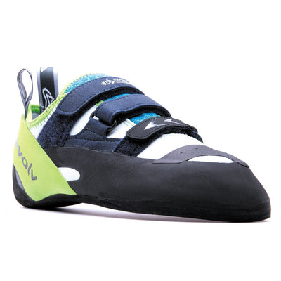Evolv Supra climbing shoe, view from the front