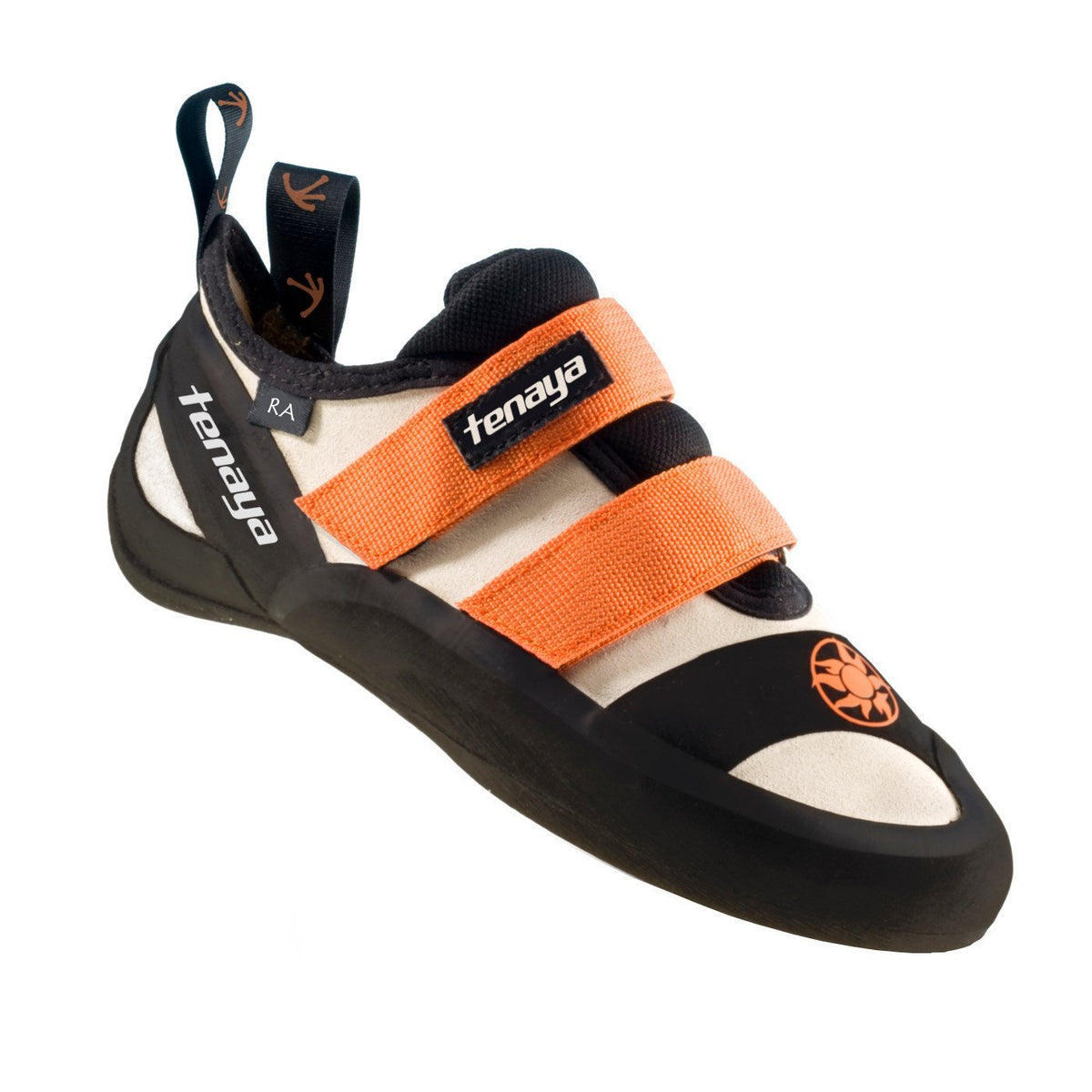 Tenaya Ra climbing shoe black, cream and orange