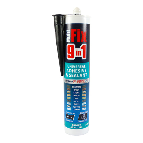 Multi-Fix 9 In 1 Universal Adhesive & Sealant - Black Image