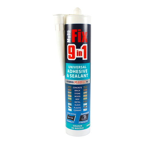 Multi-Fix 9 In 1 Universal Adhesive & Sealant - White Image