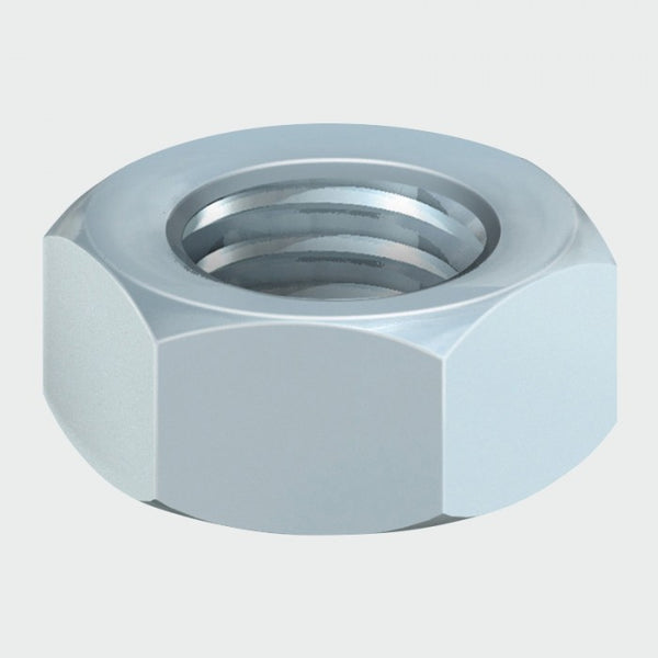 Hex Full Nut - Zinc