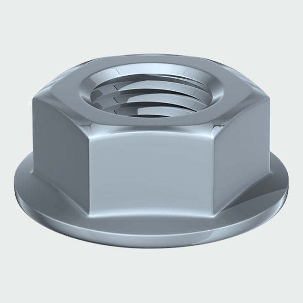 Serrated Flange Nut - Zinc