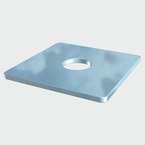 Square Plate Washer - Zinc
