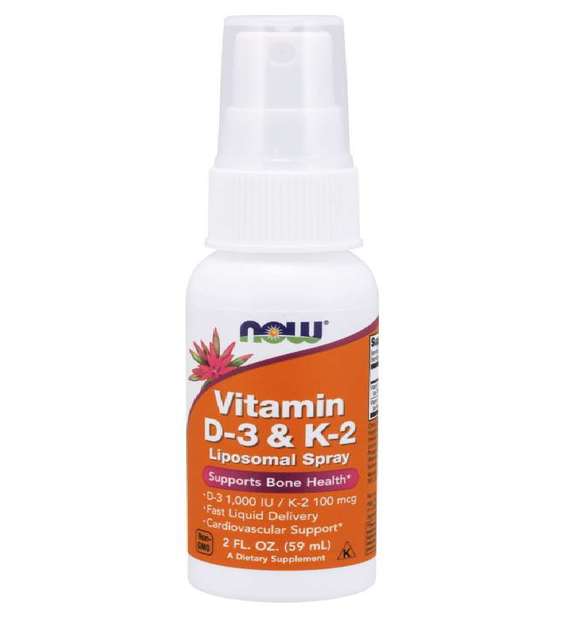 Vitamin D-3 & K-2 Liposomal Spray, 59 ml