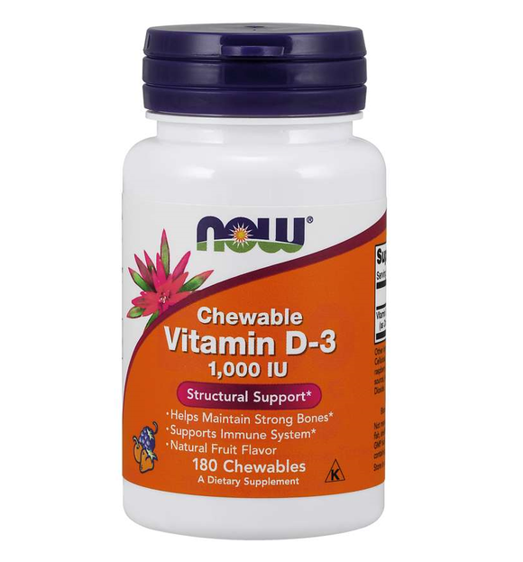 Витамин D-3 1000 IU, 180 таб. Vitamin D-3 1000 IU Chewables