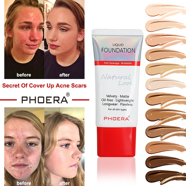 PHOERA Matte & Silky Foundation Cream - Cover It Easily