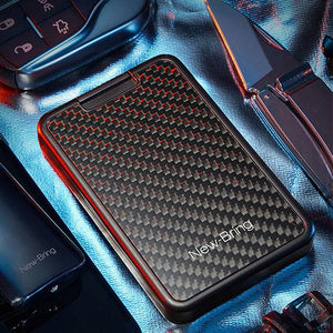 Mini waterproof carbon fiber RFID anti-theft sliding wallet