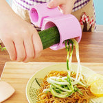 Multifunction Spiral Vegetable Slicers Double Grater-Kitchen & Dining-skrstar.com-Pink-