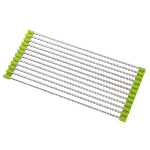 Roll-Up Drying Rack-Kitchen & Dining-skrstar.com-Green-