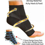 Foot Sleeve with Ankle Brace Strap