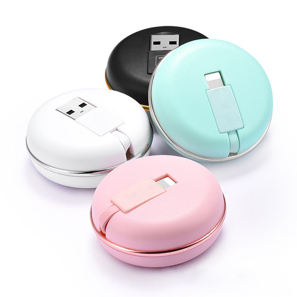Macaron Stretchable Charging Cable for iPhone