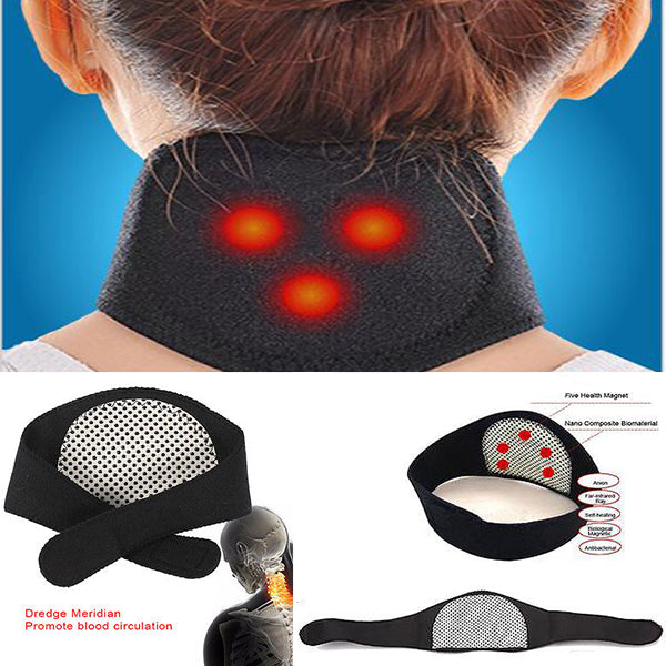 Magnetic Thermal Self-Heating Therapy Neck Pad