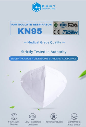 KN95 Particulate Respirator Mask (set of 5)