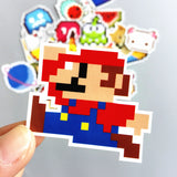 Mario Pixel Vinyl Sticker Decal
