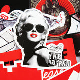 Marilyn Monroe In Red And Black Vinyl Sticker Decal