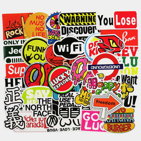 Sweet Mix Pack Stickers (x50) - Viny