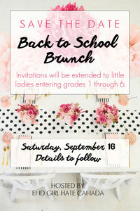 Save the Date! Back to School Brunch
