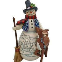 Snowman with Deer Friend - Lake Norman Gifts