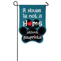 Paw Prints Garden Burlap Flag - Lake Norman Gifts