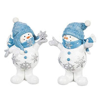Snowman with Blue Hats and Scarfs, 2 ASST - Lake Norman Gifts