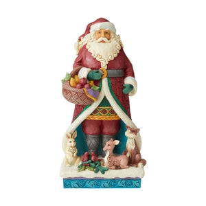Winter Wonderland Santa with Animals - Lake Norman Gifts