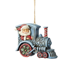 Santa In Train Engine - Lake Norman Gifts