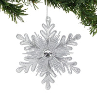 Silver Snowflake Ornament - Lake Norman Gifts