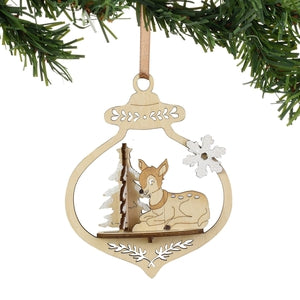 Flourish Deer Ornament - Lake Norman Gifts