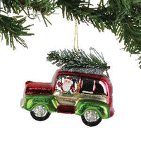 Red/Green SUV Hanging Ornament - Lake Norman Gifts
