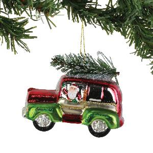 Red/Green SUV Hanging Ornament