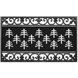 Fleur Scroll Coir Switch Mat Tray - Lake Norman Gifts