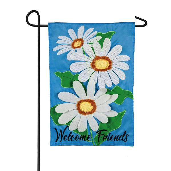 Welcome Friends Daisies Garden  Flag