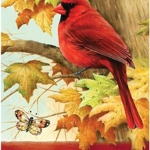 Red Cardinal Welcome Garden Flag - Lake Norman Gifts