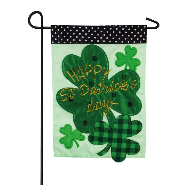 Shamrocks Garden Applique Flag - Lake Norman Gifts